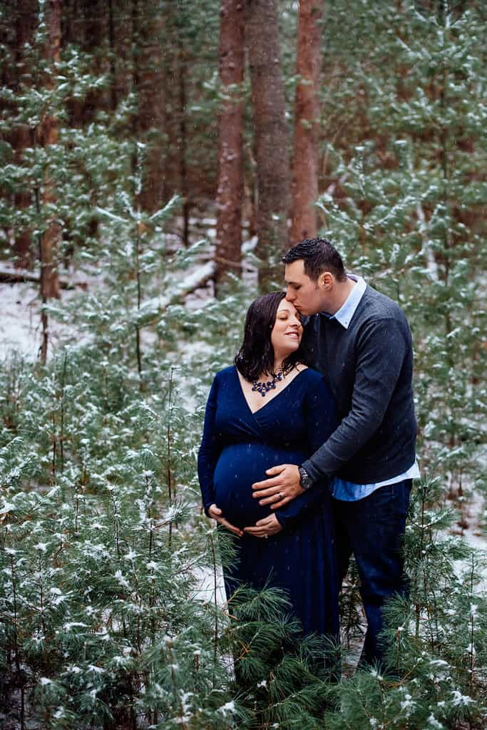 Milford Pa Winter Maternity Session Meredith Ryan